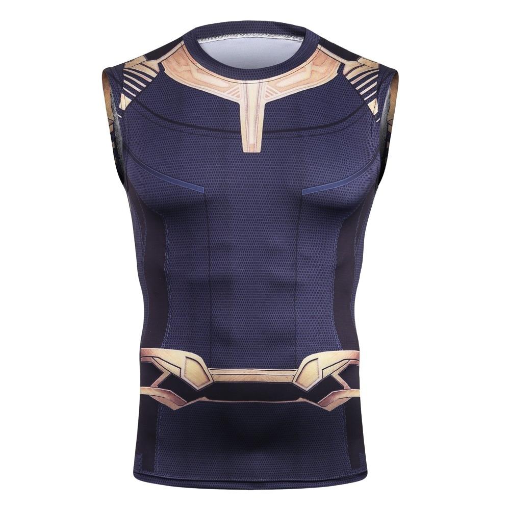 2018 Movie Avengers 3 Thanos Distruggere il bullo Infinity Guerra Cosplay T-Shirt Superhero Poliestere Tee Shirts Tops