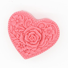 Love Heart Silicone Mold for Soap Making 3D Rose Flower Cake Decorating Handmade soap Mould