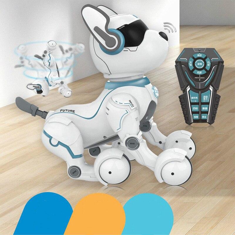 2,4G Control remoto inalámbrico inteligente Robot perro niños juguete inteligente parlante Robot perro juguete electrónico mascota cumpleaños regalo - 5