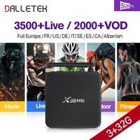 X98Pro IP TV Franse Box Android 3G + 32G S912 met SUBTV franse IPTV Abonnement Arabisch Live Sport Frankrijk IPTV VOD Franse films