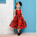 New Rose Flower Kids Dresses for Girls Costumes Summer Casual Style American Princess Dresses For Toddlers Vestidos Baby Clothes