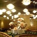 Luz pingente de flor de lírio material de pvc 53 cm forma lotus luminária pendente diy abajur quarto/lojas led pendurado lâmpada