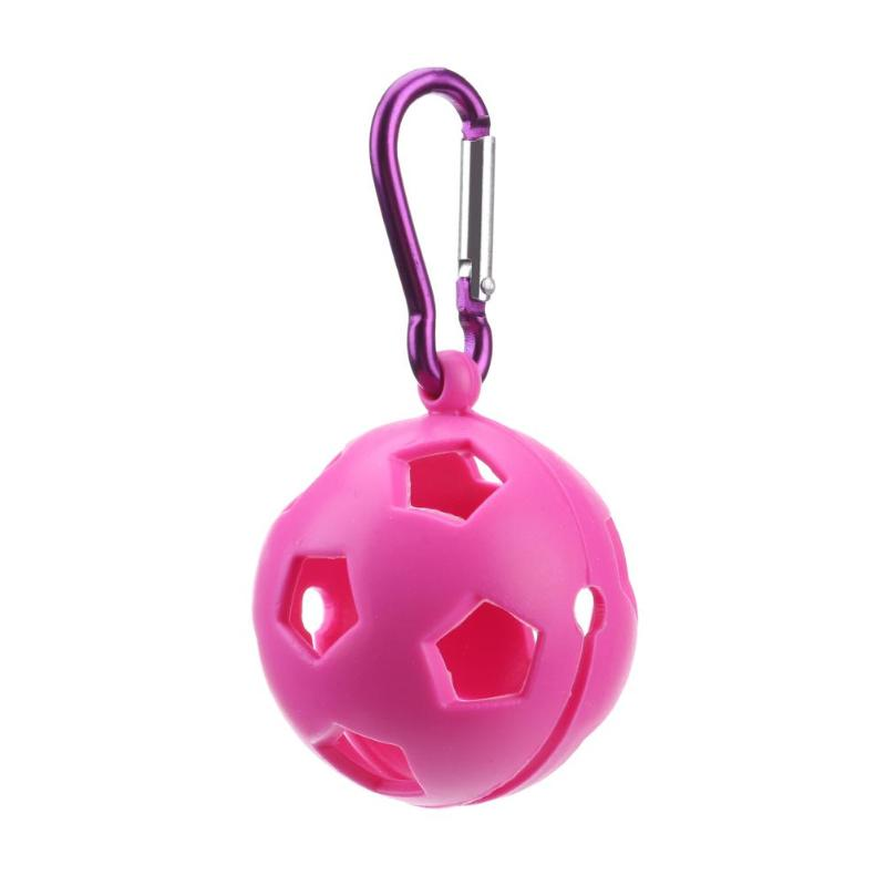 5cm Silicone Golf Ball Sleeve Protective Cover Keyring Keychain Golf Accessories Supplies Drop Shipping Golf Accessories image