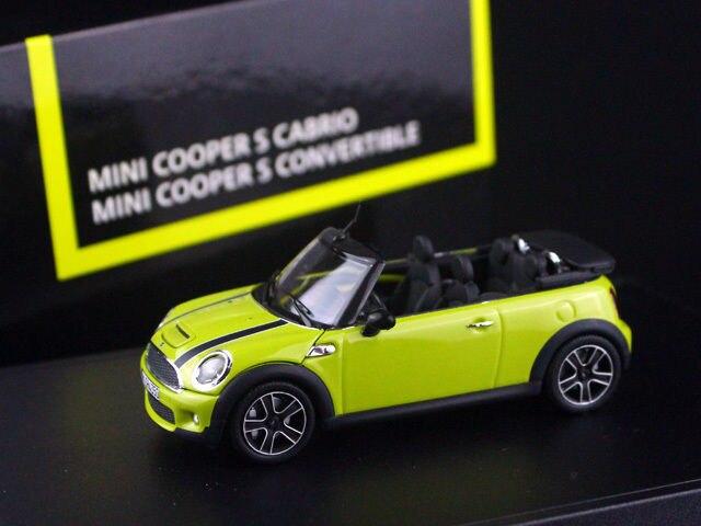 1/43 MINI COOPER S CABRIO CONVERTIBLE INTERCHANGE YELLOW R57 2009 MINICHAMPS