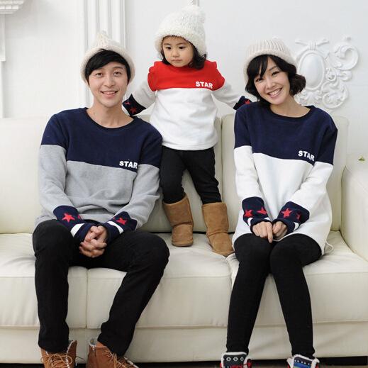 Hoodies família outono mãe e filha pai e filho pullover moda hoodies manguito pentagrama impressão hoodies família roupas combinando