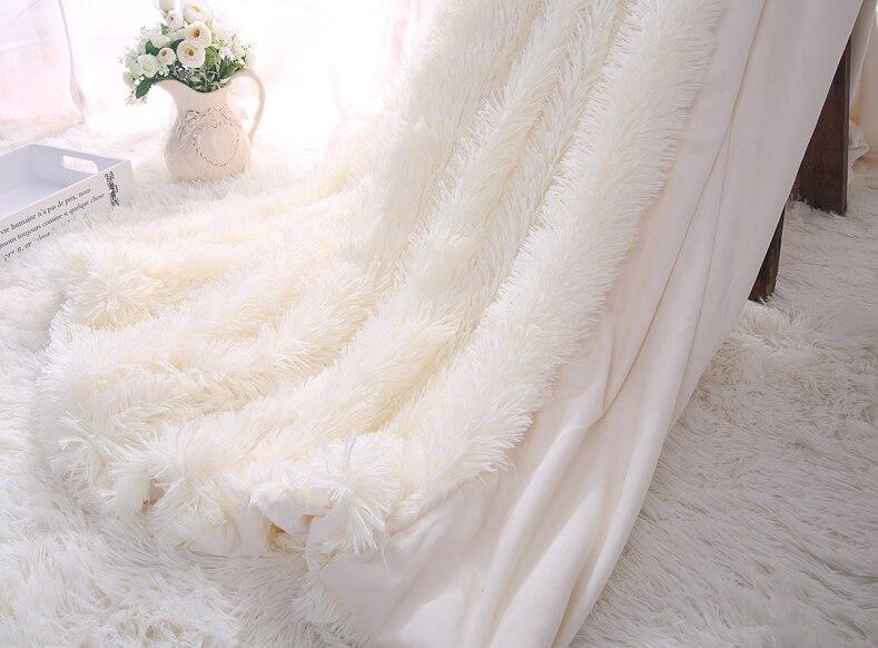 Пушистое ПВ плюшевое одеяло супер мягкое одеяло постельные принадлежности лохматый пушистый мех искусственный теплый шерпа пледы одеяло