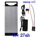 48 V литиевая батарея 48 V 27AH электрическая велосипедная батарея 48 V 27AH литий-ионная батарея samsung ячейка с хвостовым светом и зарядным устройств...