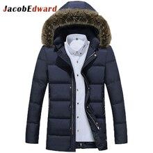 2017 Winter Jacket Men Parkas Thick Warm Coat Men's Brand Clothing Fur Collar Polyester Jacket Winter Men Parka Coat Size M-4XL