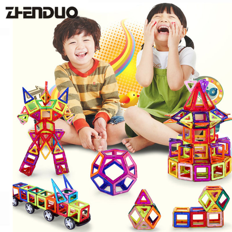 Zhenduo 32PCS Mini Magnetic Designer Building Blocks DIY 3D Educational Brick&Toys Construction Enlighten Assembly For Baby Gift hot toys nanoblock world famous architecture statue of liberty building blocks mini construction brick model iblock fun for kid