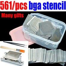 Envío gratis 561 unids./conjunto. calentamiento directo BGA Stencil + jig + caja para BGA reballing kit BGA reballing kit + regalo