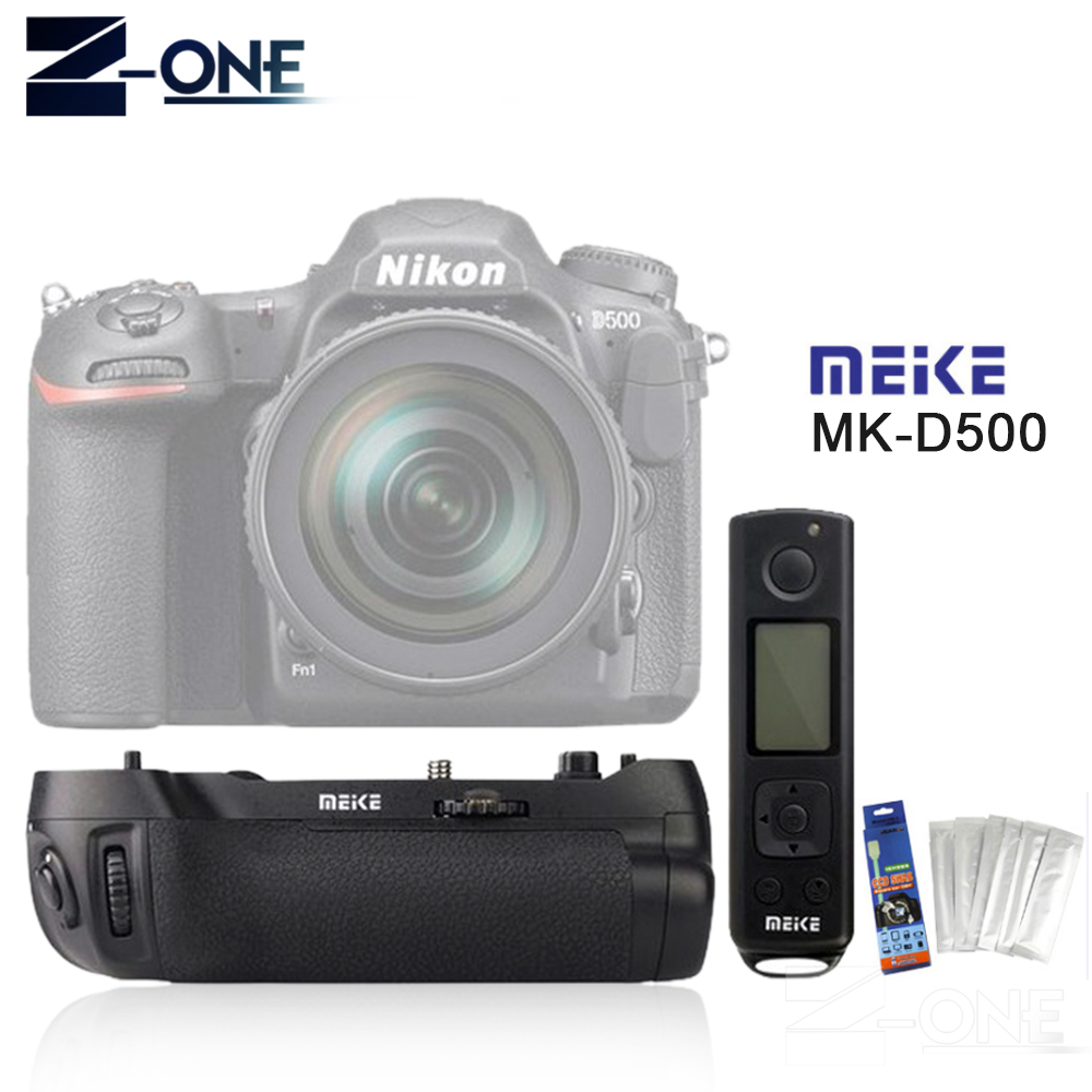 Meike MK-D500 Pro Vertical Battery Grip Built-in 2.4GHZ FSK Remote Control Shooting for Nikon D500 Camera as MB-D17 meike mk 760d pro built in 2 4g wireless control battery grip suit for canon 750d 760d as bg e18