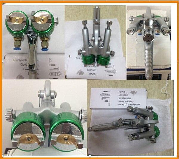 SAT1189 macchina per il trucco doppio ugello spruzzatore pneumatico - Utensili elettrici - Fotografia 2