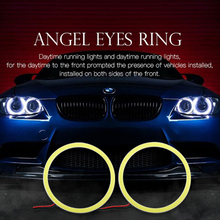 1pcs 60mm Car Angel Eyes Led Car Halo Ring Lights Led Angel Eyes Headlight for Car Auto Moto Moped Scooter Motorcycle DC 12V 3W(China)