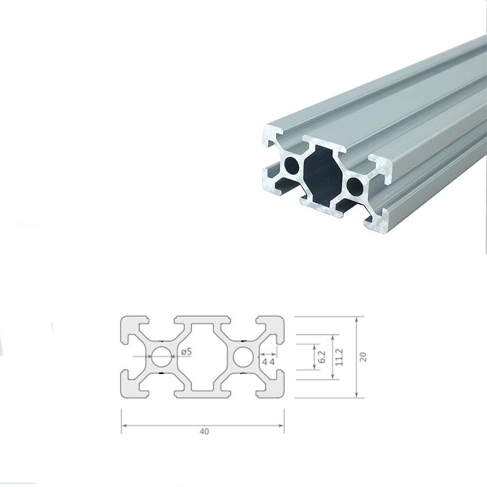 Aluminium Extrusion Profile 2040 T-Slot 6 mm 200 mm