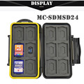 JJC SDMSD24 Water-resistant Anti-shock Shockproof Storage Memory Card Case Protector Cover Box For 12 SD 12 Micro SD Card Holder