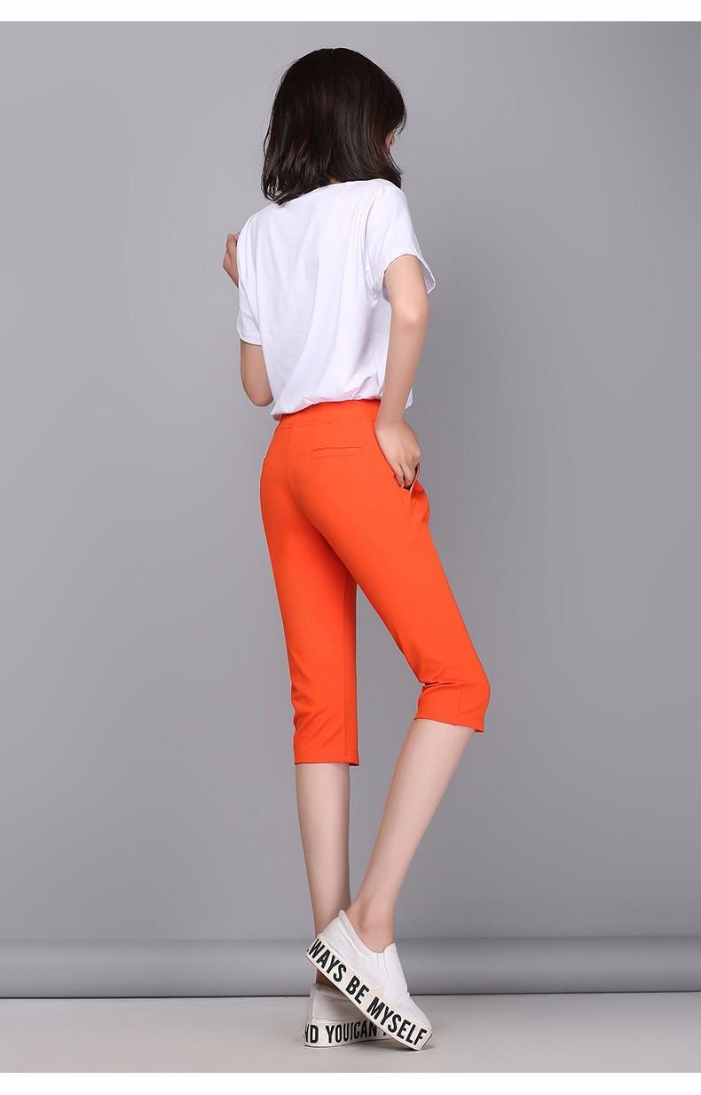 Plus Size S-4XL Harem Pants Women Solid Elastic Calf Length Summer Pants Casual High Waist Sport Pants Capris Trousers 2016 A313 e