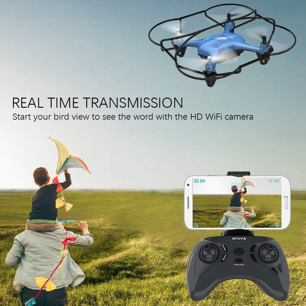 Image 5 - ATOYX Camera Drone With Camera HD no 4k Mini Drone RC Quadcopter FVP WIFI With Wide Angle HD High Headless Altitude Hold Mode-in RC Helicopters from Toys & Hobbies
