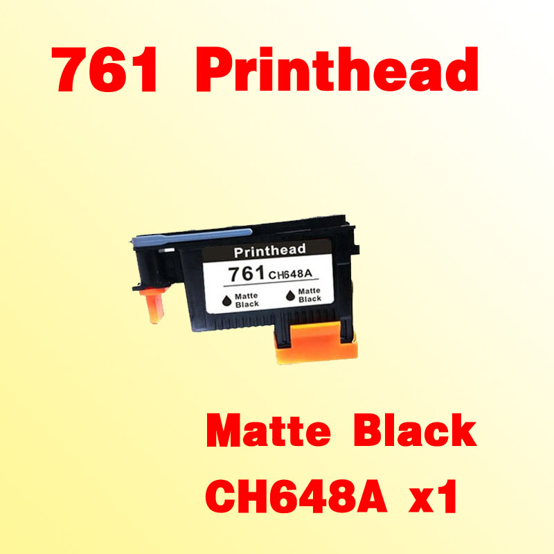1x Matte Black printhead For hp761 for hp 761 T7100 T7200 CH648A printer for hp761 magenta cyan prinhead for hp 761 t7100 t7200 ch646a