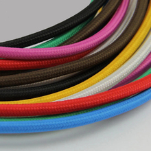 2X0.75 mm2 Copper Cloth Covered Wire, Vintage Style Edison Light Lamp Cord Grip,Decorative Lighting Textile Cable