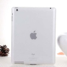 Hot Sale Fashion Jelly Color Transparent Silicon Back Cover for iPad 2 iPad 3 iPad 4