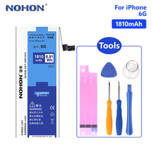 NOHON Lithium Phone Battery For High Quality 3.82 V 1810mAh iPhone 6 6G iPhone6 Replacement Internal Bateria Free Tools