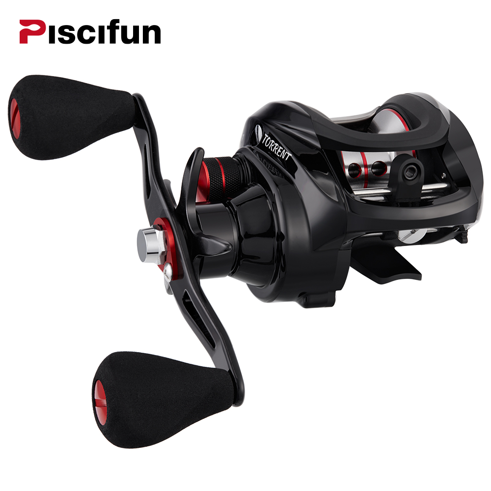 Piscifun Torrent Baitcasting Reel 8.1kg Carbon Drag 7.1 1 Gear Ratio Magnetic Brake Saltwater Freshwater Baitcaster Fishing Reel