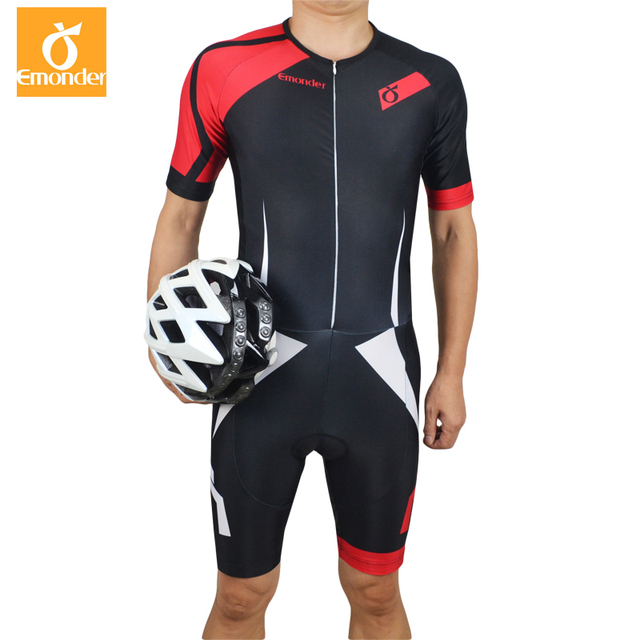 993a10c2329 EMONDER Pro Team Triathlon Suit Men Cycling Clothing Skinsuit Jumpsuit  Cycling Jersey Sets Ropa Ciclismo Bike Sports Clothing