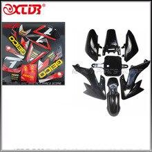 CRF50 מדבקות מדבקות גרפיקה ערכות ושחור פלסטיק פגושים עבור הונדה CRF 50 XR50 SDG עפר בור אופניים