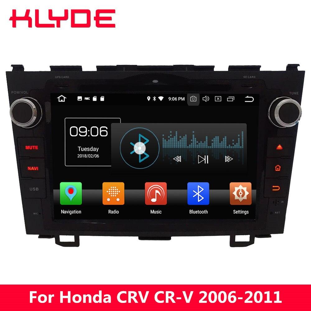 KLYDE 8 4 г WI-FI Android 8,0 Octa Core PX5 4 ГБ Оперативная память 32 ГБ Встроенная память DVD мультимедиа плеер стерео радио для Honda CRV CR-V 2006-2011