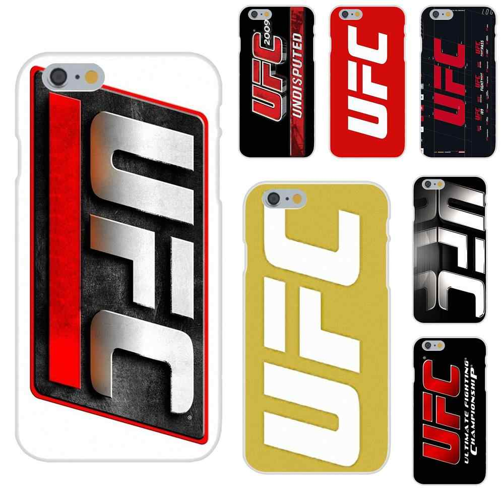 Para A Apple iPhone 4 4S 5 5C 5S SE 6 6 S 7 8 Plus X XS Max XR Novo multi Cores de alta Qualidade Caso de Telefone Logotipo do Ufc