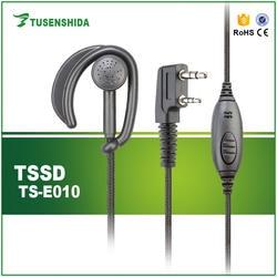 Шум отмена динамик TS-E010 Ушные крючки проводной черный FM трансивер наушники