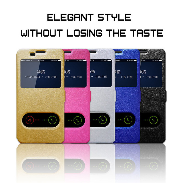 the latest e2a91 ac02b US $2.6 20% OFF Silk Grain Leather Phone Case For LG X Power Quick Answer  View Window Flip Cover Capa For LG X Power K210 K220 K220ds 5.3 inch-in  Flip ...
