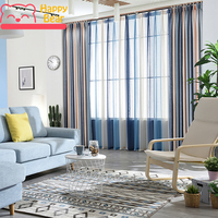 Happy Bear Window Curtains for Living Room Half Shading Curtain for Bedroom Home Decorative Curtain Color Gradient Curtains