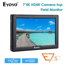 E7S 7 Inch Portable on Camera Field DSLR Monitor Full HD 1920x1200 4K IPS HDMI Input Output Camera Monitor For DSLR Camera feelworld f6 5 7 ips support 4k hdmi input full hd on camera monitor for camera video can power for dslr or mirrorless camera
