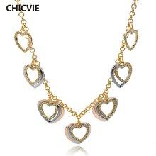 Женское многослойное ожерелье с кристаллами toucheart дизайнерское