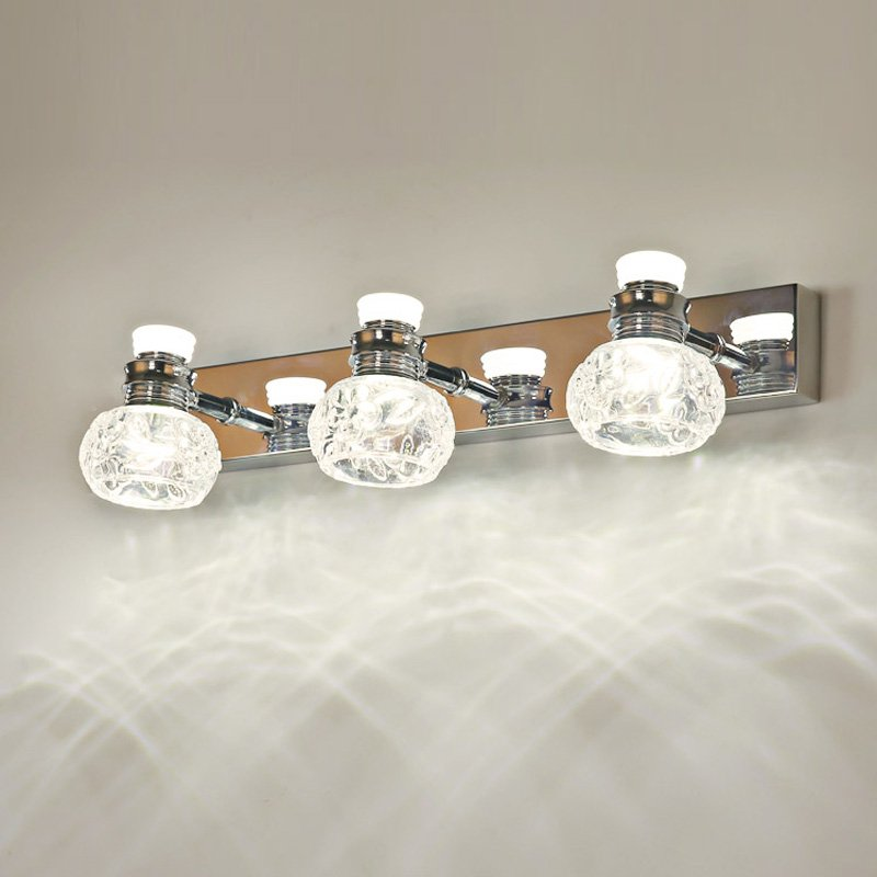 Crystal Torch Bedroom Wall Lamp Bathroom Mirror Front Wall: LED Modern Crystal Bathroom Wall Light Poly Directional