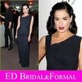 Дита фон тиз темно-синий платье на AMFAR гала красном ковре шифон знаменитости вечернее платье выпускного вечера платье свадебные платья formales