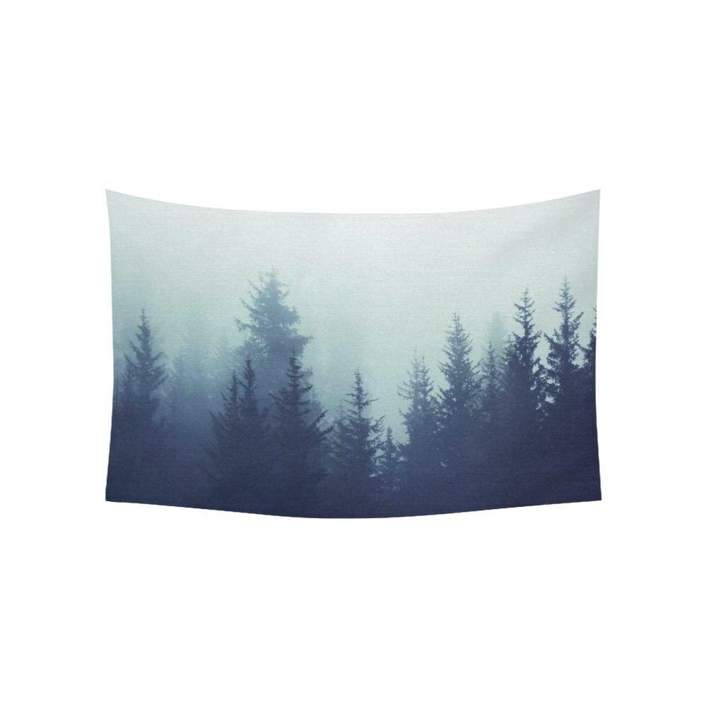 Пейзаж природа пейзаж стены Книги по искусству Домашний декор, Таинственный лес на туман горы Гобелены стене висит Художественные наборы