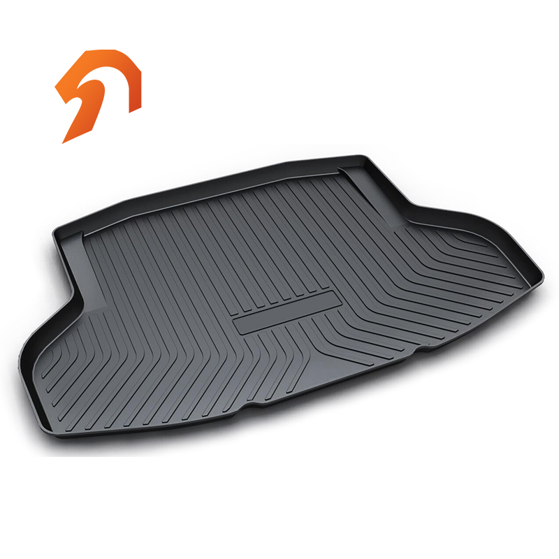 Rubber Rear Trunk Cover Cargo Liner Trunk Tray Floor Mats For Honda Honda CIVIC 2015-2018 Carpet Liner Mats custom fit car trunk mats for nissan x trail fuga cefiro patrol y60 y61 p61 2008 2017 boot liner rear trunk cargo tray mats