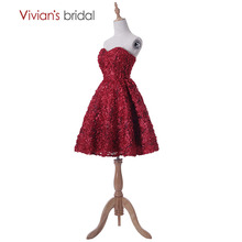 A Line Homecoming Dresses Sweetheart Sleeveless Short Party Dress Vivian's Bridal Graduation Dress vestido de festa curto
