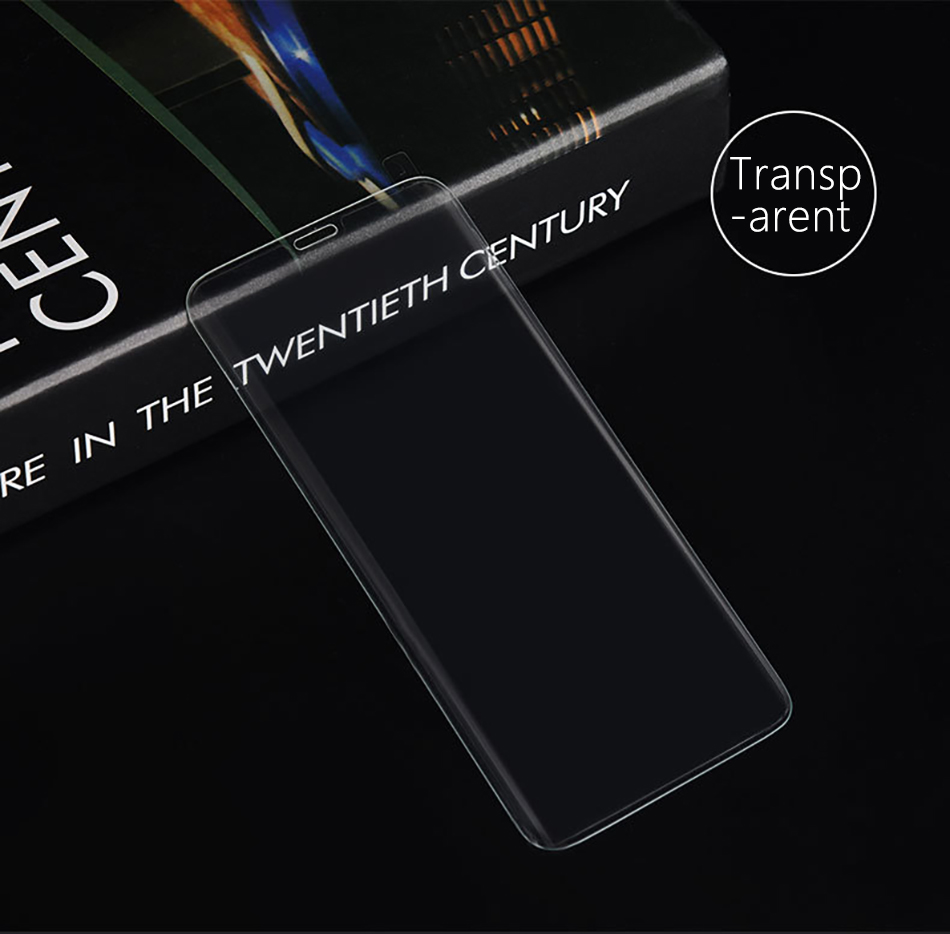 !ACCEZZ Curved Coverage Tempered Glass Film For Samsung S8 S9 Plus Note 8 Anti-fingerprint Protector Screen Front Clear Films (10)