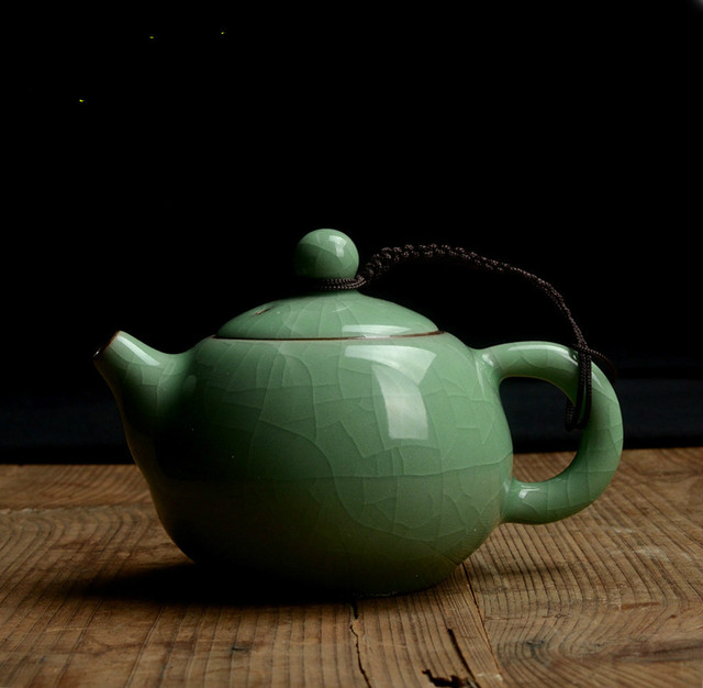 Celadon Glazed Ceramic Gong Fu Teapot