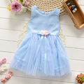 Summer Top Fashion Mid-calf A-line Sleeveless Baby Girl Dress 2016 New Girls Party For Toddler Dresses Clothing Kids Clothes
