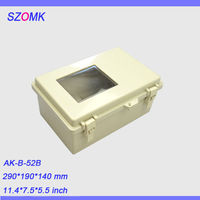 1 Pcs Szomk Electronics Boxes Instrument Waterproof Enclosure 290 190 140mm Electrical Junction Box Abs Switch