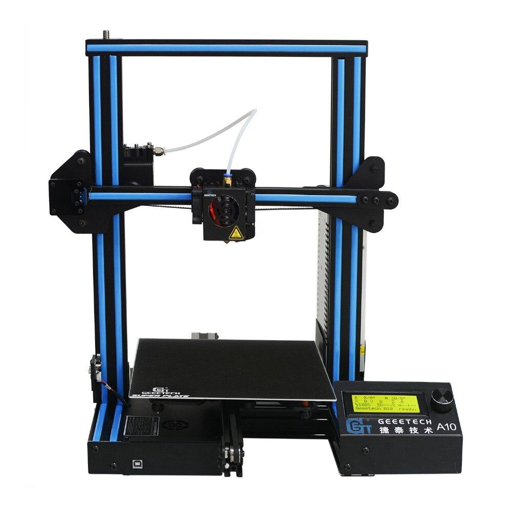 Geeetech A10 Open Source di Montaggio Veloce 3D Stampante 220*220*260 di Alta PFrinting Accur Buona Adesione Della Piattaforma LCD2004 display