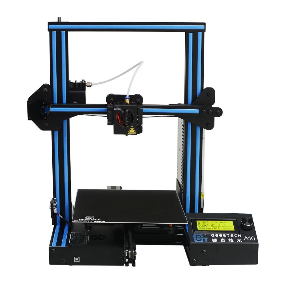 Geeetech A10 Open Source Rapide L'assemblée 3D Imprimante 220*220*260 Haute PFrinting Accur Une Bonne Adhérence Plate-Forme LCD2004 affichage