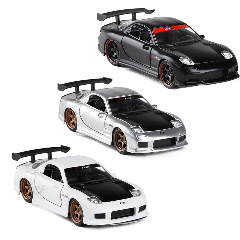 1:32 Scale 1993 RX7 FD3S  Sport Car Metal Diecast Racing Model  Car For Boys Toys Gift Collection  V012