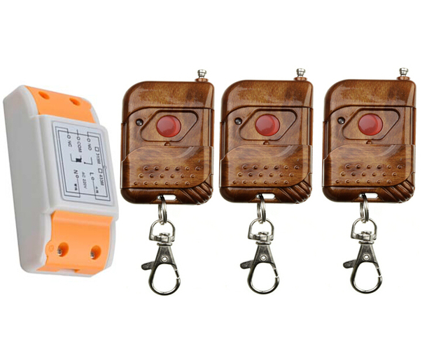 US $13 59 20% OFF New 220 v 1 ch remote control switch 1 piece receiver + 3  piece transmitter circuit diagram visible-in Switches from Lights &