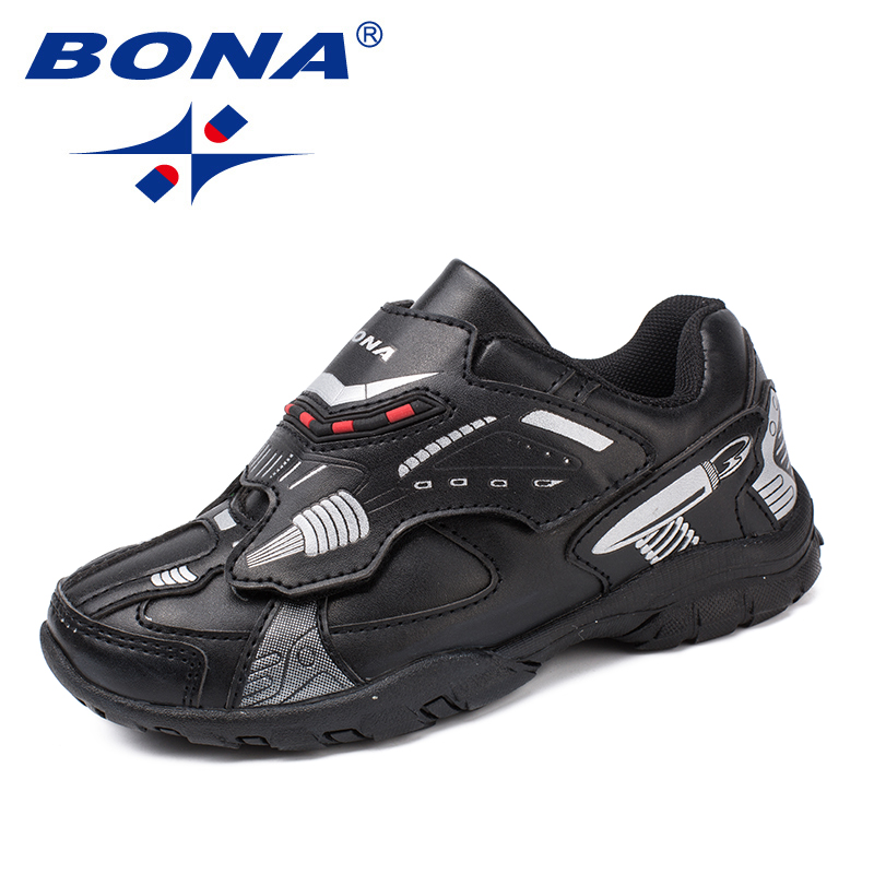 BONA New Arrival Popular Style Children Casual Shoes Synthetic Boys Shoes Hook & Loop Girls Flats Fashion Sneakers Free Shipping