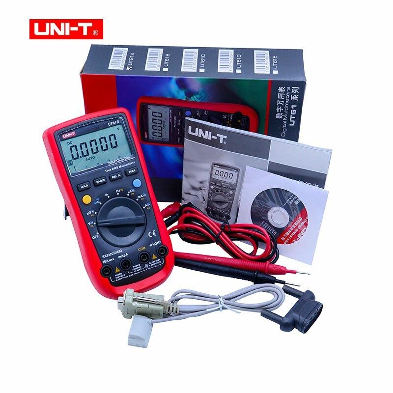 UNI-T UT61E multímetro Digital auto rango true RMS valor pico RS232 REL AC/DC amperímetro uni t UT 61E multímetro